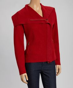 Loving this Beyond Threads Dragon Alpaca-Wool Blend Asymmetrical Cardigan on #zulily! #zulilyfinds