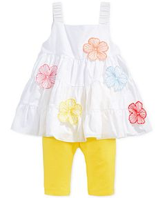 First Impressions Baby Girls' 2-Piece Floral Tunic & Leggings Set