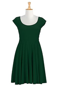 RESOLD ON EBAY -  Banded waist cotton knit dress. I added elbow length sleeves. Cute dress but didn't tickle my fancy. I just really dislike how they line some of their jersey knit pieces with non-stretch poly-taffeta!