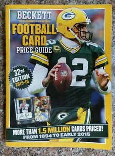 Beckett Football Card Price Guide 32nd Edition Annual 2015-16 Aaron Rodgers Cove