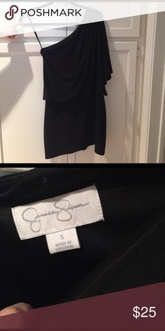 Jessica Simpson One sleeved little black dress. Super cute Jessica Simpson dress. Worn only a couple of times. Perfect for date nights or going out on the town! Poly/spandex blend Jessica Simpson Dresses One Shoulder