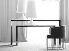 Rectangular wooden console table PENSAMI | Console table - ERBA ITALIA