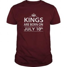 Awesome Tee Birthday July 10 Shirts King are born T Shirt Hoodie Shirt VNeck Shirt Sweat Shirt for womens and Men T-Shirts