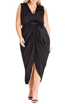 f52bb27c662 New City Chic Drape Front Sheath Dress (Plus Size) online shopping