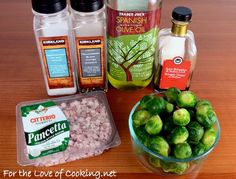 Roasted Brussel Sprouts with Pancetta and Balsamic Vinegar