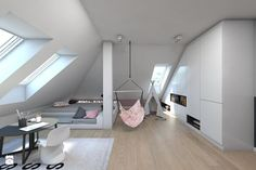 (Sochaczew) Projekt domu jednorodzinnego 8 - Pokój dziecka, styl nowoczesny - zdjęcie od BAGUA Pracownia Architektury Wnętrz