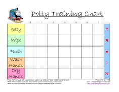 Free Potty Training Chart Printables  Diy Ideas  Free Printables