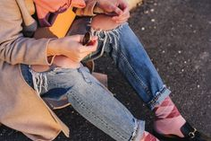 tifmys – Coat, sweater and jeans: Zara   Brooch: Chanel   Bag: A.P.C. Half-Moon   Socks: Burlington   Shoes: Gucci Princetown   Scarf: Samsoe & Samsoe   Sunnies: Ray Ban Round Metal   Earrings: Jukserei