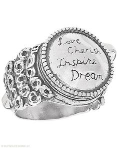 "With its old-fashioned-letterpress look, this #Ring is the ""write"" choice. #Sterling #Silver. #Silpada"