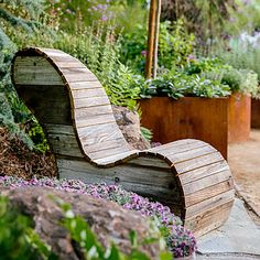 Keep It Organic - Favorite Outdoor Furniture - Sunset Mobile Rustic Outdoor Furniture, Log Furniture, Outdoor Chairs, Outdoor Decor, Antique Furniture, Modern Furniture, Outdoor Seating, Landscape Design, Garden Design