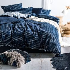 Oki Indigo Quilt Cover Set