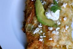 Chile Verde Chicken Enchiladas - Against All Grain