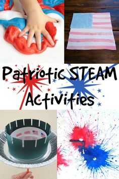 Instead of painting or coloring an American Flag this July use two water science experiments that explore properties of water to create a flag! Create A Flag, Water Science Experiments, Firework Rocket, Firework Painting, Summer Activities For Kids, Summer Science, Kindergarten Science, Preschool, Steam Activities