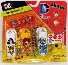 Tech Deck Board Shop Set - Almost Skateboards DC Comics Pieces Lost Surfboards, Almost Skateboards, Skateboard Store, Board Shop, Tech Deck, Weird Cars, Cheerleading, Dc Comics, Decks