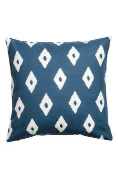 Capa de almofada estampada - Azul/Branco - HOME | H&M PT 1