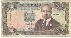 Front- Bank of Kenya 200 shillings