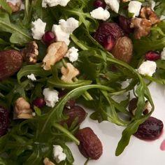 Roasted Grape and Walnut Salad