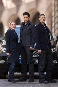 Sophia Myles (Beth Bailey), Richard Armitage (Lucas North)  Max Brown (Dimitri Levendis) - Spooks (2010-)