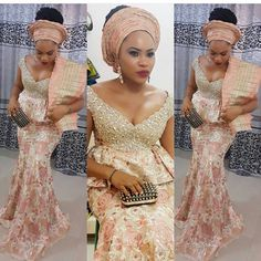Wedding Season Is Upon Us.See the Lastest and Eye-Popping Aso-Ebi Styles