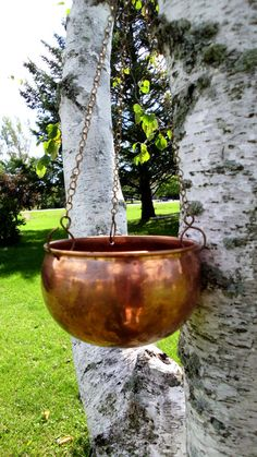 Hanging Copper Cauldron.