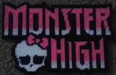 monster high logo Plastic Canvas Pattern 3.00