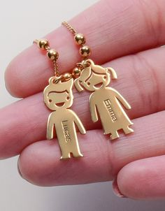 Let us engrave your loved one's names on this Mother's Necklace with Engraved Children Charms. Each necklace can be ordered with multiple personalized boy/girl charms according to your choice. And then you can engrave each kids charm with the name of the child it represents! Since you can get as many charms as you need, this children charm necklace makes an ideal gift for mothers, grandmothers and children alike! It is a perfect necklace for moms everywhere!