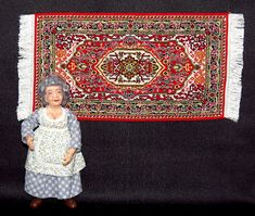 I started stitching the medallion of this rug years ago when a pattern was not even completely finished yet. Mini Cross Stitch, Hama Beads, Cross Stitching, Needlepoint, Dollhouse Miniatures, Needlework, Embroidery, Rugs, Pattern