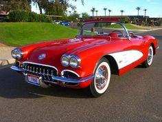 1960 Corvette Roman Red / White / Red