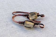 Custom Copper Ear Wire Findings with Faceted by LisaYangJewelry, $11.00