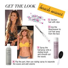 """Get the Look: Summer Beach Waves"" by polyvore-editorial ❤ liked on Polyvore featuring beauty, Prey Swim and Living Proof"