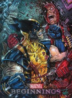 #Deadpool #Fan #Art. (Marvel Beginnings 2 Wolverine Vs Deadpool) By: Danny Kuang & Julio Naranjo. (THE * 5 * STÅR * ÅWARD * OF: * AW YEAH, IT'S MAJOR ÅWESOMENESS!!!™) ÅÅÅ+