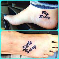 Big Sissy and Little Sissy tattoos - Different spots but same part. #TattooModels #tattoo