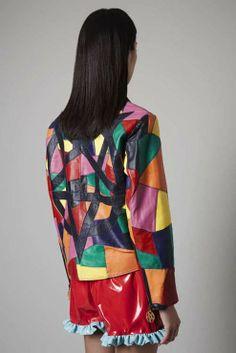 patchwork, colour, leather, design