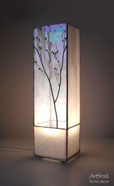 Lamp Dawn. Tiffany table lamp. Handmade lamp. Glass by artsmil
