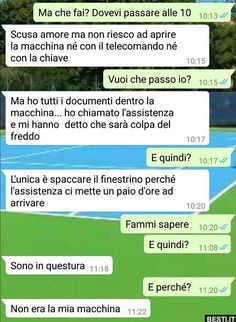 Ma che fai? Funny Chat, Funny Times, Sarcasm Humor, Funny Messages, Crazy Life, Have A Laugh, Just For Laughs, Funny Moments, Funny Photos