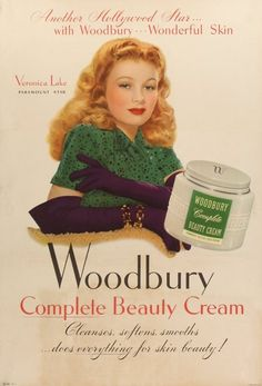 Veronica Lake ~ Woodbury Complete Cream, 1944
