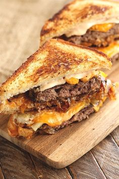 1 reviews · 40 minutes · Serves 4 · This easy recipe for gooey, cheesy Patty Melts is made even easier by using Chop House Steak Burgers! They're the perfect solution for busy weeknight meal dilemmas! #sponsored