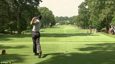 Rory McIlroy played an unlikely shot during the PGA TOUR Championship in Atlanta, Georgia,...