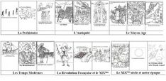 Une frise historique (à colorier) French Class, In The Tree, Ancient Civilizations, Science Nature, Social Studies, Coloring Books, Adult Coloring, Kids Learning, Homeschool