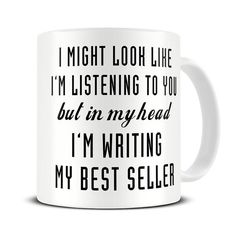 Author Gifts - Literary Gift - Writer Gift - But In My Head I'm Writing My Best Seller Coffee Mug - Book Gifts - MG591