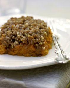 Holiday Sweet Potato Casserole #vegan #vegetarian