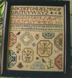 Quaker Medallion Sampler is the title of this cross stitch pattern from C Street SamplerWorks. Here is link to order custom cut 32 Ct Khaki ...