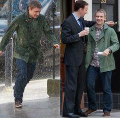 BBC Sherlock: Martin Freeman (John Watson) & Mark Gatiss (Mycroft Holmes)