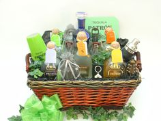 Patron Spirits products in our custom designed gift basket - Thoughtful Presence