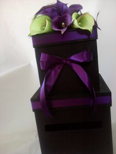 Wedding Cardbox - Fabulous Weddings at Etsy - this is my absolute FAVORITE color of purple!!!!