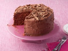 A Gooey, Decadent Chocolate Cake Recipe : Tyler Florence : Food Network - FoodNetwork.com