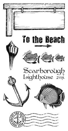 Cling Stamps 3 from our new collection, By the Sea! Look for it in stores in early February #graphic45