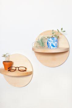 DIY Circle Shelves