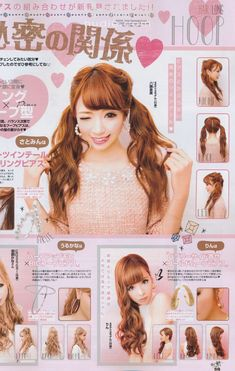 peinado al estilo anime muy romántico.