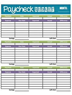 Bonfires and Wine: Livin' Paycheck to Paycheck - Free Printable Budget Form